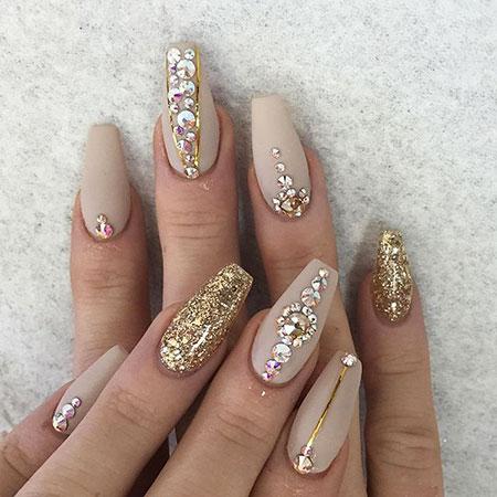 Nails Nail Coffin Acrylic