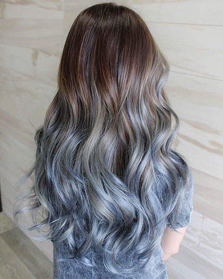 Hair Ombre Blue Pastel
