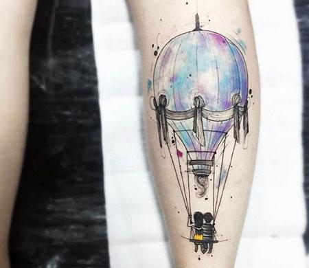 Tattoo Balloon Air Watercolor
