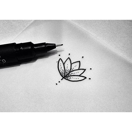 Lotus Tattoo Flower Minimalist