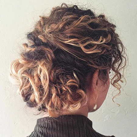 Curly Updo Short Messy