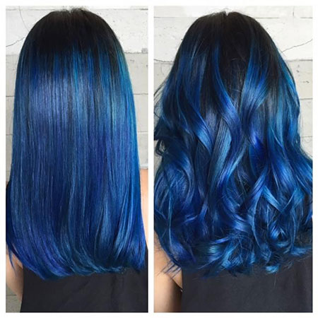 Hair Color Blue Modern