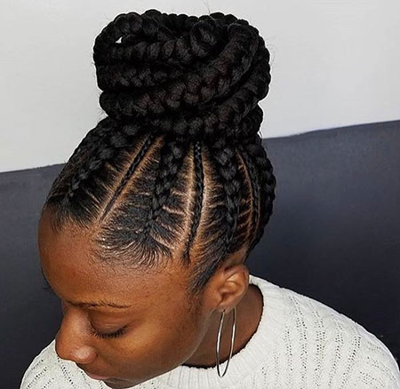 Braids Bun Cornrows Braided