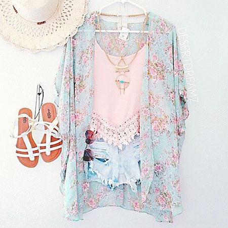 Vintage Floweral Kimono Outfit, Vintage Floweral Kimono Love