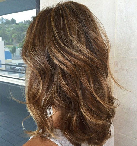 Brown Hair Light Highlights