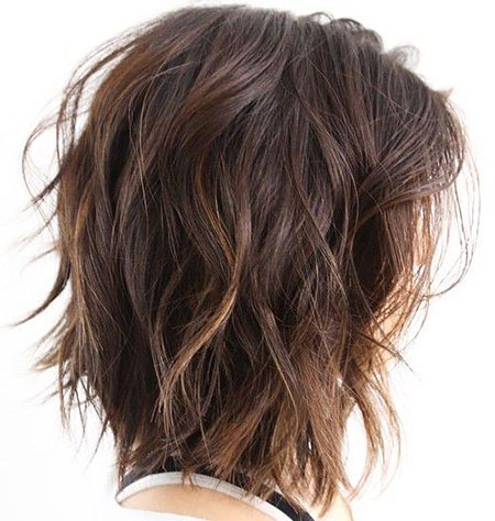 Length Choppy Wavy Shoulder