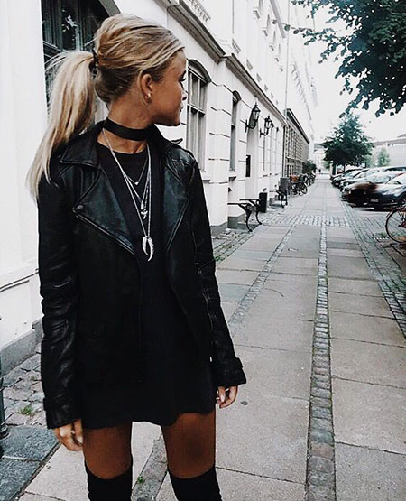 Black Edgy Outfit, All Black Style Fashion
