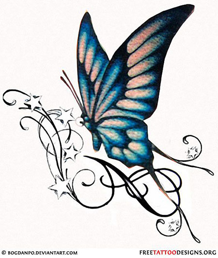 Butterfly Tattoo Tribal Designs