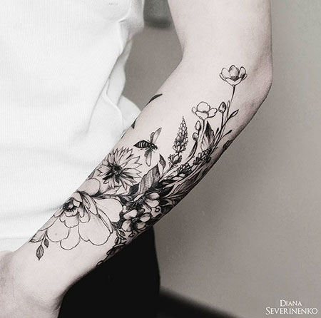 Tattoos Flower Tattoo Arm