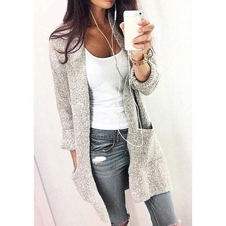 Long Cardigan Outfits Fall