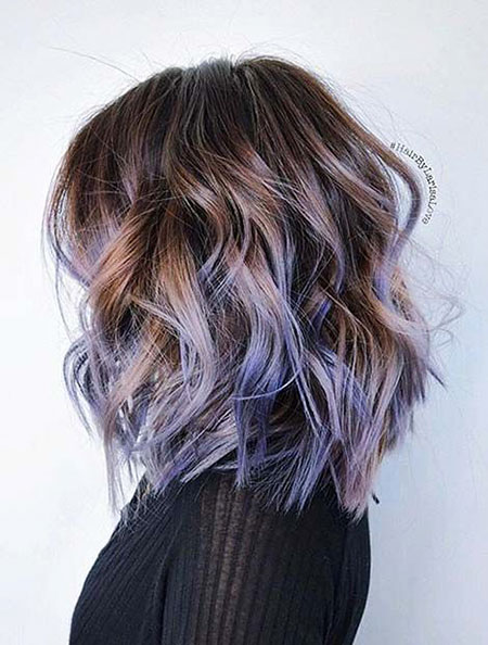 Hair Purple Pastel Brown
