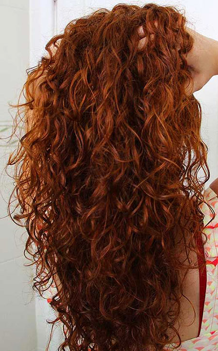 Curly Long Red Hair