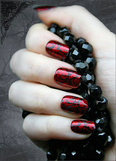 Nail Nails Red Japanese
