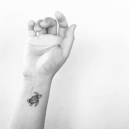 Tattoos Small Wrist Turtle