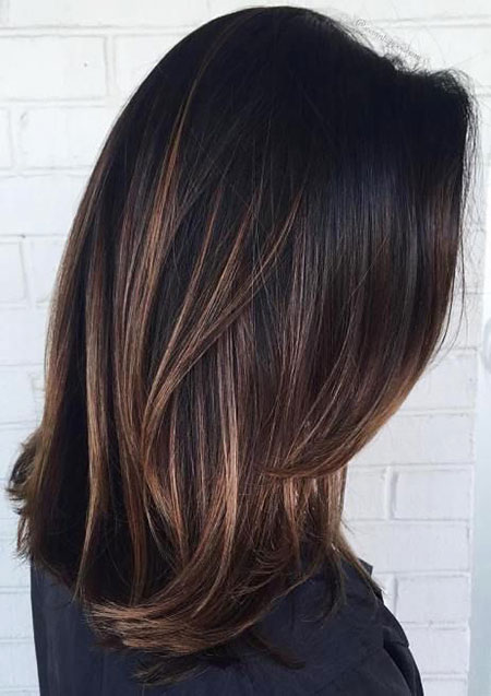 Brown Hair Balayage Choppy