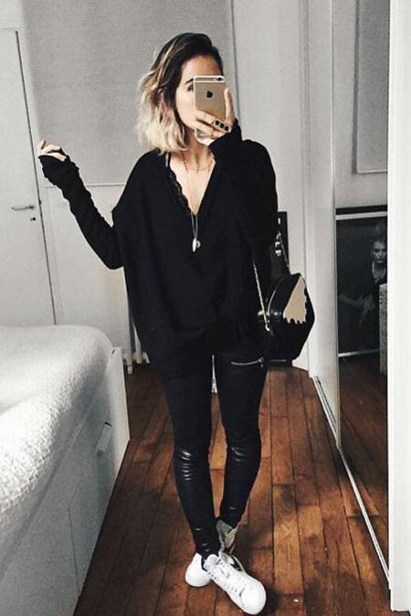Black Outfit on Woman, Style Classic Paris Olsen