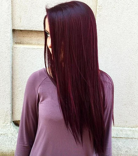 Hair Burgundy Dark Red