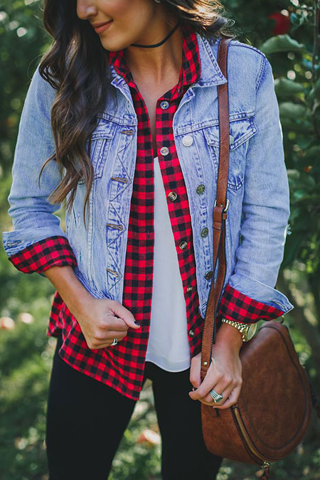 Fashion Plaid Blanket Scarf