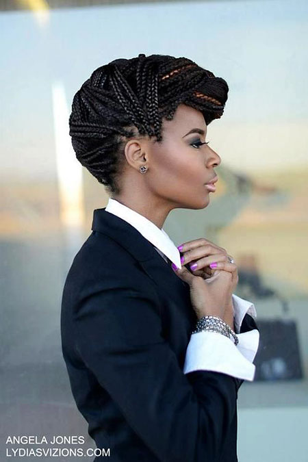 Braids Hair Box Updo