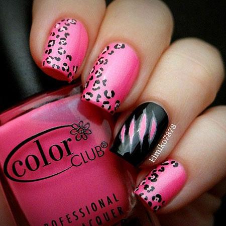 Nail Black Pink Designs