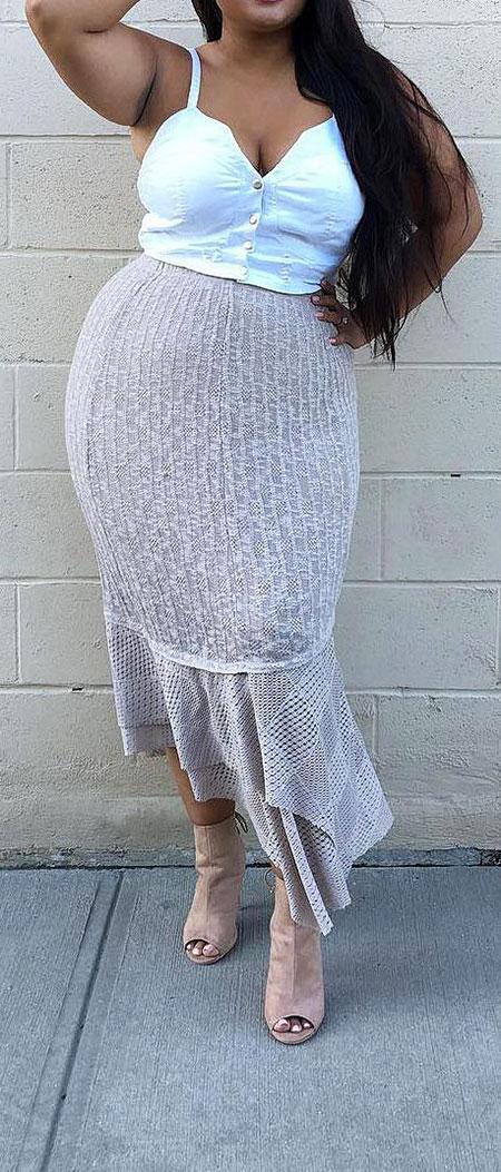 Bodycon Fashion White Dress