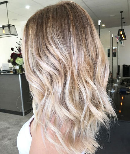 Blonde Hair Balayage Long