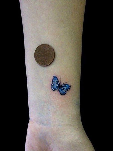 Butterfly Tattoo Wrist Small