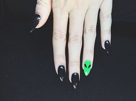 Stiletto Nail Black Nails