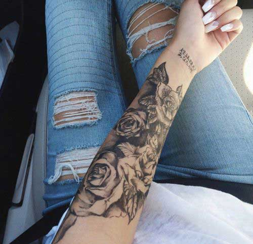 Lower Inner Arm Tattoos
