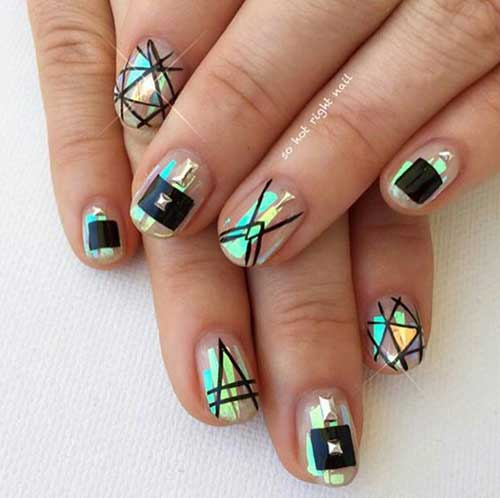 Geometric Nail Designs-13