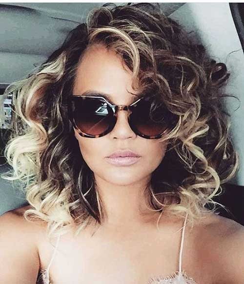 Medium Length Naturally Curly Hairstyles-13