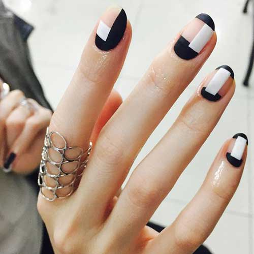 Simple Geometric Nail Designs