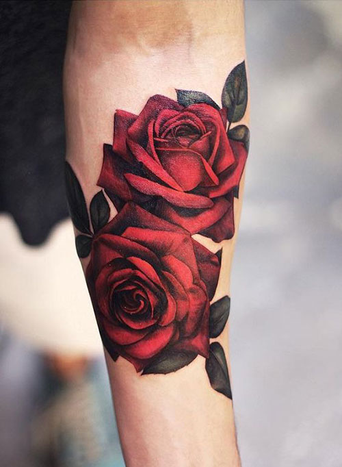 Rose Tattoos for Women-16