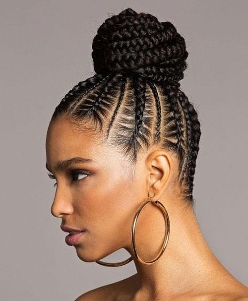Box Braid Bun Hairstyles for Summer-6