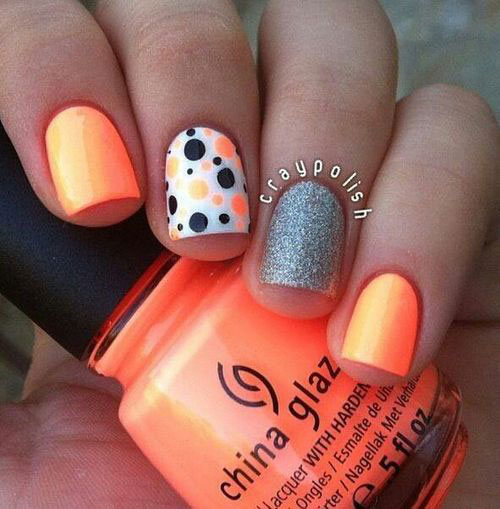 Cute Dots Easy Nail Designs-6