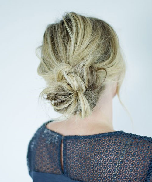 Low Bun Hairstyles for Summer-7