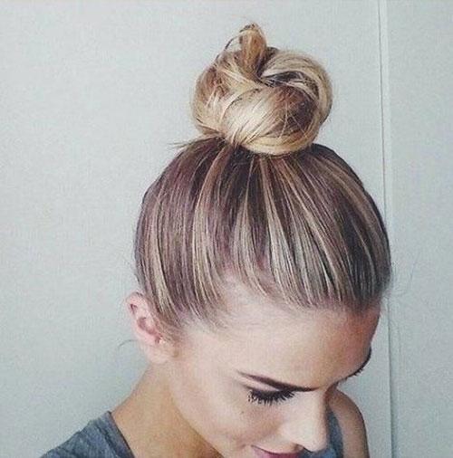 Cute Bun Hairstyles for Summer-8