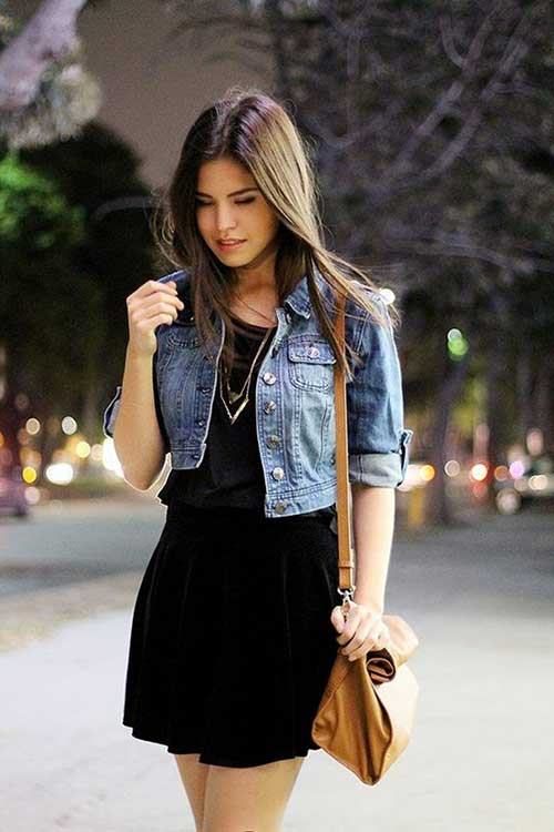 Black Dress Street Style Outfit-9