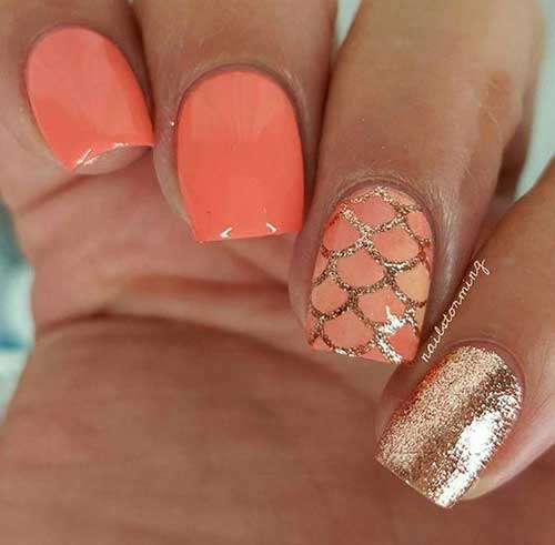 Cute Easy Scale Nail Art Summer Nails-10