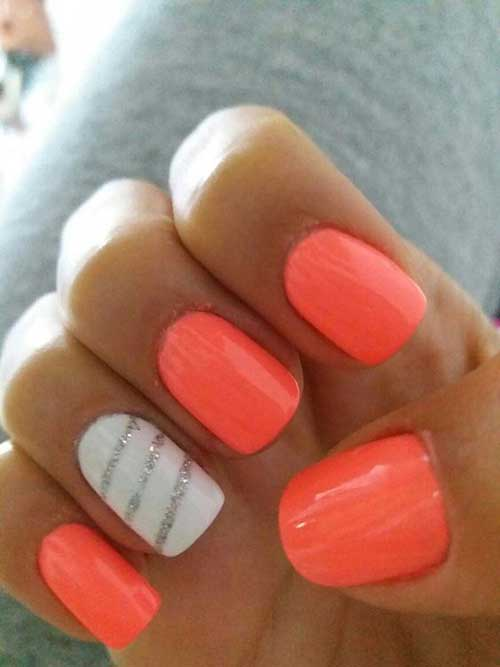 Cute Easy Summer Nails-16