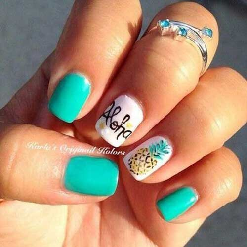 Cute Easy Summer Nails-17