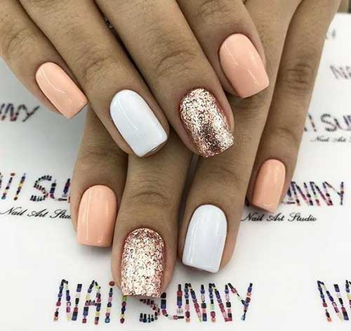 Cute Easy Glittered Summer Nails-6