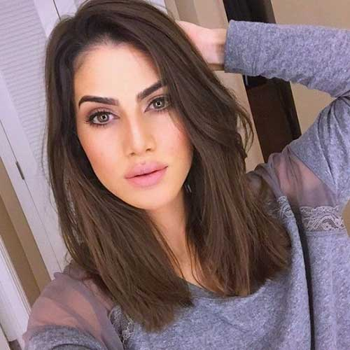 Brown Medium Length Hairstyles-7