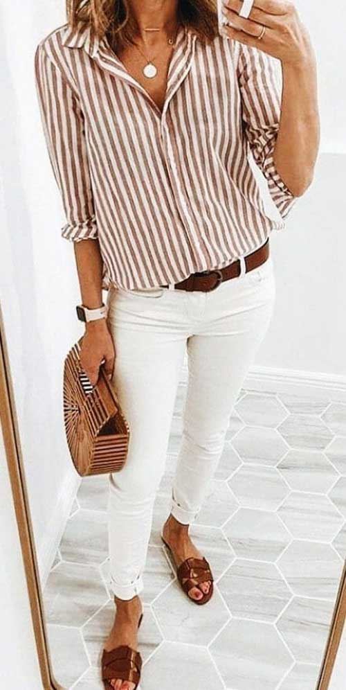 Striped Shirt Spring Style Outfits-7