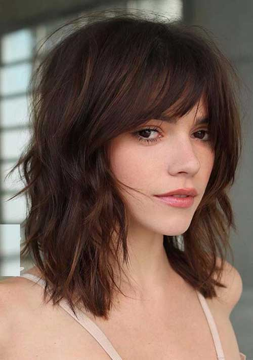 Curtain Bangs Medium Length Hairstyles-8