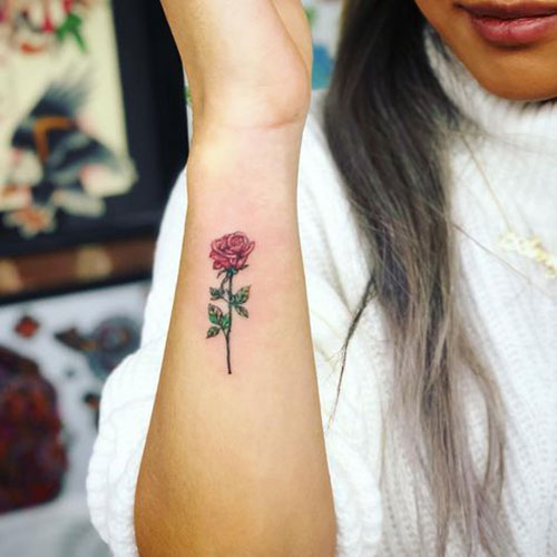 Small Rose Tattoos for Women-8