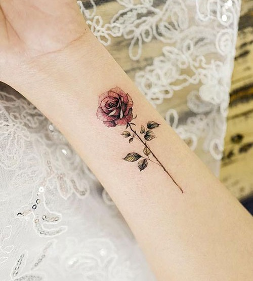 Small Rose Tattoos