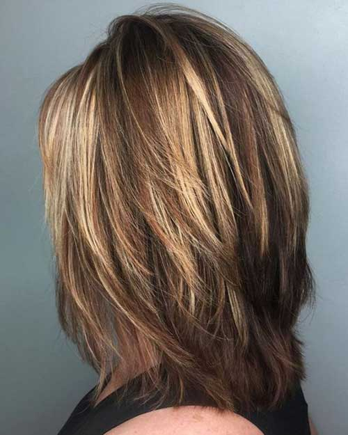 Short Medium Layered Haircuts-7
