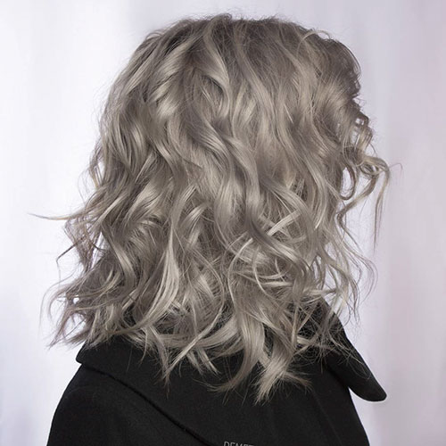 Curly Long Bob