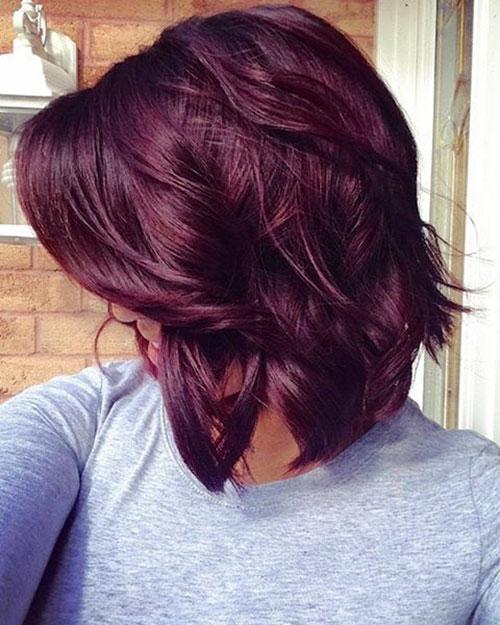 Short Burgundy Hairstyles